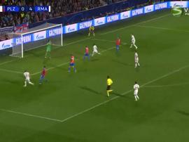 Kroos scores Madrid's fifth. Captura/Viasat