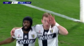 Kulusevski porta in vantaggio il Parma. BeinSport