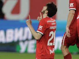 Kvaratskhelia cerró la goleada con el cuarto gol. Twitter/fclokomotiv
