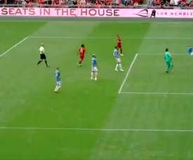 The incredible clearance by Walker that gave City the title. Screenshot/Twitter/FA