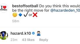 Kylian Hazard rechazó el fichaje de su hermano por el Madrid. HazardK10