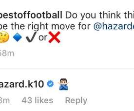Kylian Hazard ne veut pas entendre parler d'un transfert au Real pour son frère. HazardK10