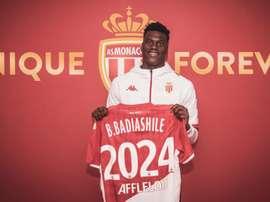 L'AS Monaco blinde Benoît Badiashile. Twitter/AS_Monaco