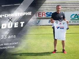 'Amiens SC annonce la signature pour une saison du gardien, Jean-Christophe Bouet. Twitter