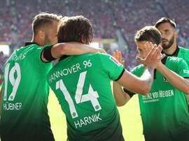 El Hannover dormirá líder de la Bundesliga. Hannover96