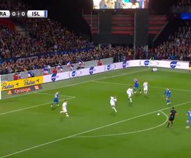 L'ouverture du score pour l'Islande. Capture/Twitter