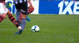 A reclamação (justa) do Botafogo contra o VAR. Captura/Globoesporte