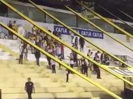 La afición de Criciuma se burló de la tragedia de Chapecoense. Youtube