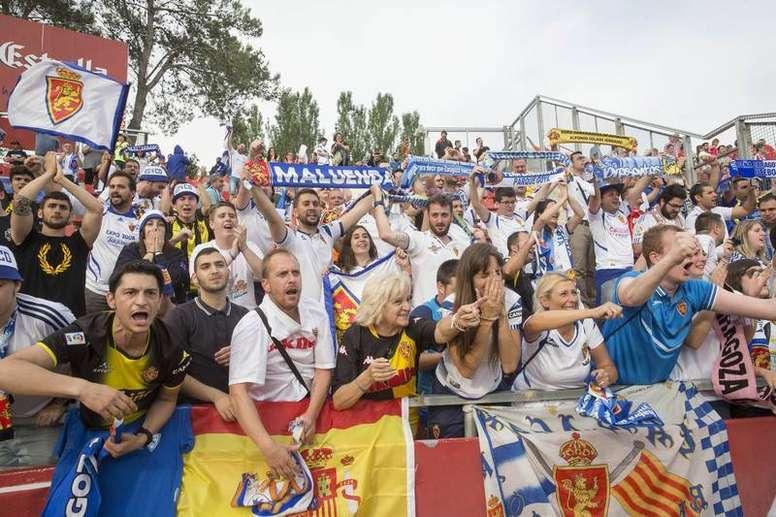 El Zaragoza ha alcanzado la cifra de los 27.000 abonados. EFE/Archivo