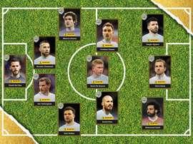O onze do ano na Premier League. PFA