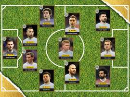 The PFA's XI of the year. PFA