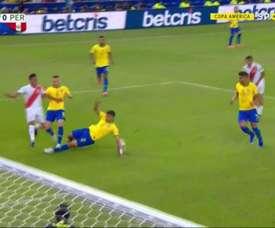 Guerrero marque un nouveau but historique après l'intervention de la VAR. Capture/SportTV1