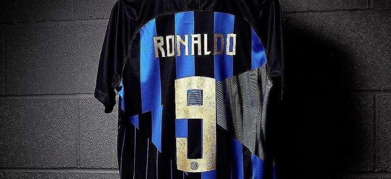 buy online e5a1c b3eeb La camiseta especial del Inter dedicada a Ronaldo - BeSoccer