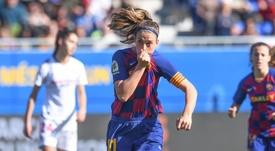 Pegada de ensueño, goleada de líder. Twitter/FCBarcelonaFemení