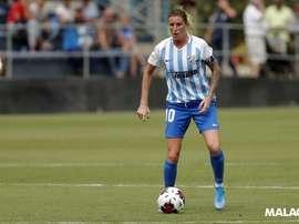 Adriana reaccionó rápidamente para el Málaga Femenino. MálagaCFFemenino