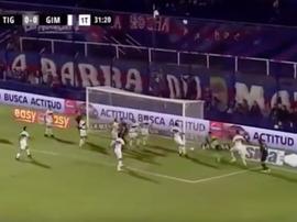 Tigre venció a Gimnasia por 2-0. Captura/TNTSports