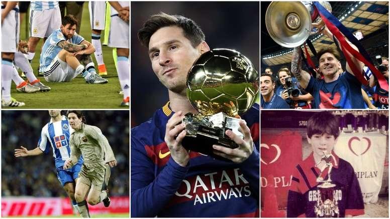 A trajetória de Messi em 20 momentos. EFE - AFP - Barcelona