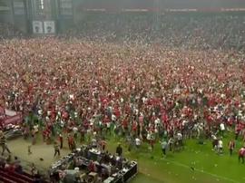 El Parken Stadion de Copenhague se llenó para ver el partido. Captura/TV2Sporten