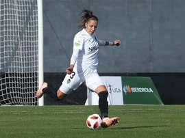La jugadora sufre problemas en el menisco exterior. Twitter/ValenciaCFFemenino