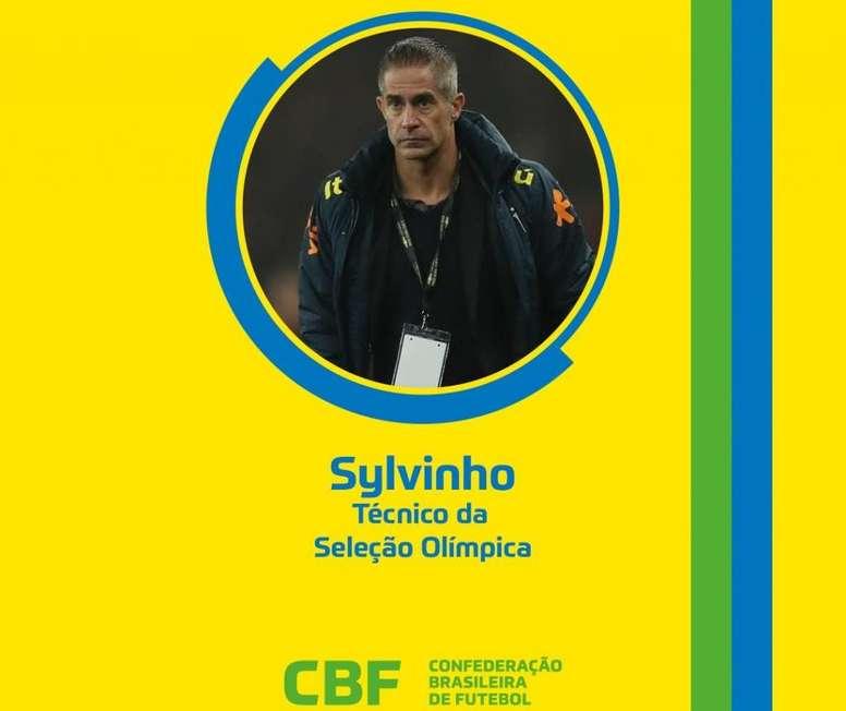 Sylvinho se encargará de la Sub 23 en Tokio 2020. Twitter/CBFFutebol