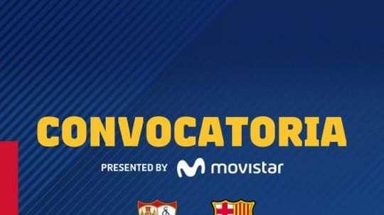 Convocados do Barça. FCBarcelona