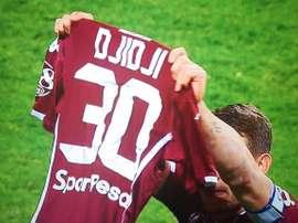 Emotiva dedicatoria de Boletti a Djidji tras su lesión. Captura/SkySport
