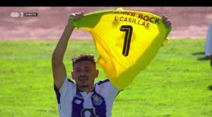 A dedicatória de Soares a Casillas. Captura