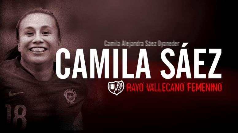 Camila Sáez jugará en el Rayo Vallecano Femenino. RayoFemenino