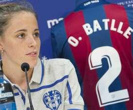 Ona Batlle sufrió un esguince de grado 2-3. LevanteUD