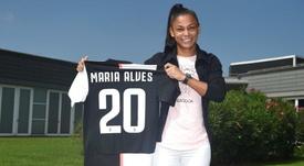 Maria Alves puso fin a su etapa en la Liga Brasileña. Twitter/JuventusFCWomen