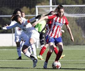 Laura Fernández volvió a jugar. AtletiFemenino