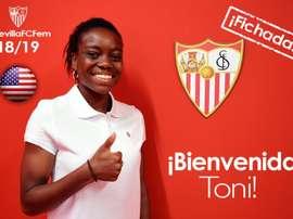 Toni Payne, nueva jugadora del Sevilla Femenino. SevillaFCFemenino