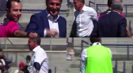 La surrealista decisión del árbitro en relación a Michel durante el partido de Pumas. Captura/TUDN