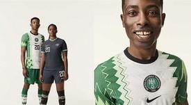 Le Nigéria révèle son nouveau maillot : mélange d'histoire et d'innovation. Twitter/thenff