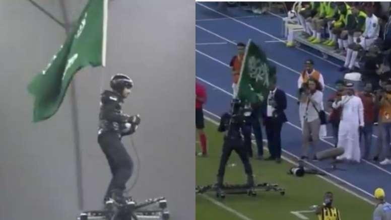 La final de la Copa Saudí trajo consigo una sorpresa que dejó a los espectadores atónitos. Captura