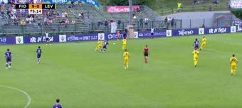 La Fiore consigue su segunda goleada en pretemporada (9-0) ante el Levico. Twitter/acffiorentina