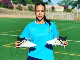 Anita anotó el gol 500 del Sporting en Primera. Twitter/LaluRAlbarran