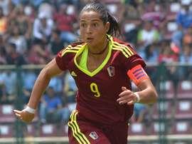 Deyna Castellanos fue clave en la victoria de Venezuela. FederacionVenezolanaDeFutbol