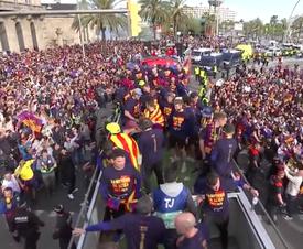 A festa do Barcelona. Captura