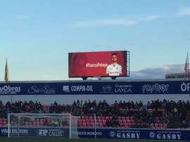 El Huesca mandó un mensaje de ánimo a Pelayo. Twitter/Amanecista