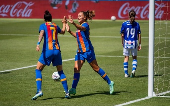 Le championnat espagnol féminin subira des modifications. Twitter/FCBfemeni