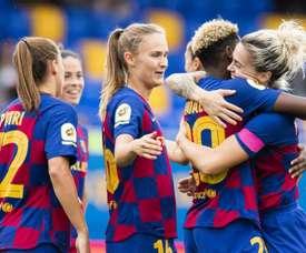 El Barça golea en el otro 'Clásico' femenino. Twitter/FCBarcelonaFemení