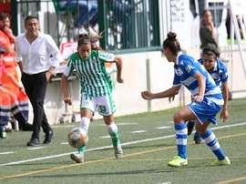 Locura goleadora en el Luis del Sol. Twitter/RealBetisFéminas