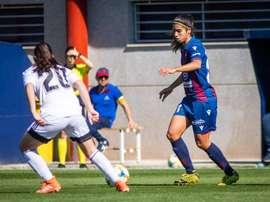 Marta Corredera anotó el tanto de la victoria. Twitter/LevanteUDFemenino