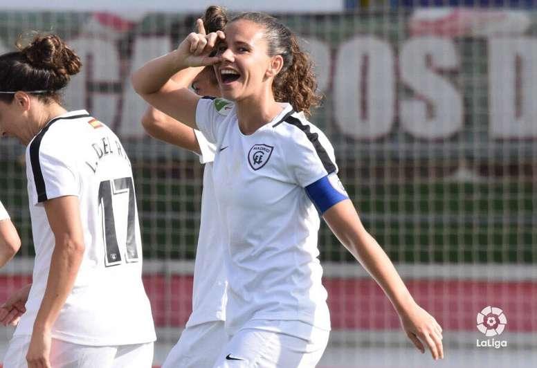 Alexandra López cuelga las botas tras una carrera plagada de éxitos. Twitter/MadridCFF