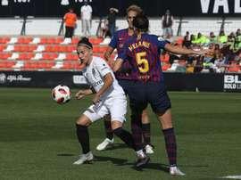 Sucedió durante el duelo ante el Barça. Twitter/ValenciaCFFemenino
