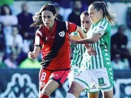 Saray García acumula dos etapas en el Rayo. Instagram/saraygarciagarcia8