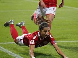 Nadia ha entrado en la historia de Dinamarca con su gol. NadiaNadim