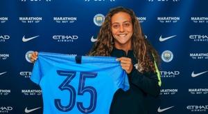 Matilde Fidalgo assinou pelo City. ManCity