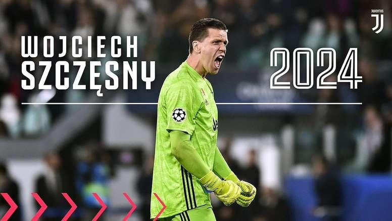 Szczesny prolonge jusqu'en 2024. Twitter/juventusfc